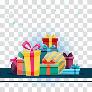 berbagai macam ilustrasi kotak hadiah, hadiah Natal hadiah Natal dekorasi Natal, kotak hadiah Natal png