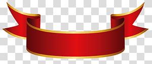 Kertas Pita Spanduk, Spanduk Merah, logo pita merah dan oranye PNG clipart