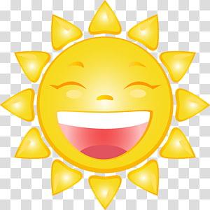 ilustrasi matahari yang tertawa, Kartun Tersenyum, Kartun Tersenyum Matahari PNG clipart