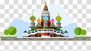 Moscow Kremlin Saint Basils Cathedral Ilustrasi, kastil PNG clipart