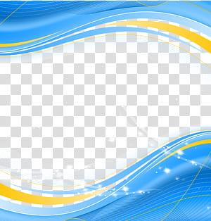 Arc Poster, batas teknologi busur biru, latar belakang biru dan kuning png