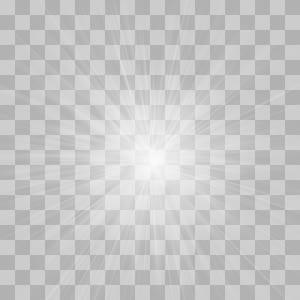 Pola Simetri hitam dan putih, Efek cahaya terang bercahaya, lampu LED png
