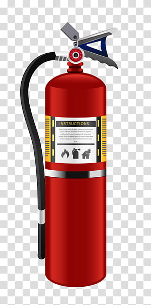 ilustrasi pemadam api merah, kelas pemadam api, bahan realistis pemadam api png