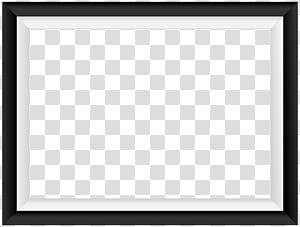 Bingkai Area Persegi Pola Hitam dan putih, Bingkai Perbatasan Hitam Putih, bingkai foto digital PNG clipart
