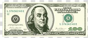 100 dolar AS, elemen dekoratif Uang Kertas png