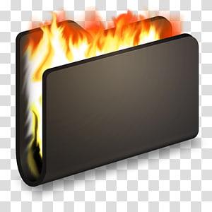 persegi panjang panas, Bakar Folder Hitam, ilustrasi perapian listrik abu-abu png
