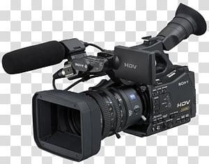 hitam kamera video Sony, HDV Camcorder Kamera video definisi tinggi, Kamera Film png