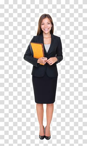wanita membawa folder oranye, Agen Penjualan Perusahaan Agen Layanan Real Estat, wanita pemikir png