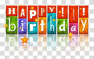 Kue ulang tahun Selamat Ulang Tahun untukmu, Ulang Tahun Berwarna-warni Berwarna Bintang, papan tanda Selamat Ulang Tahun png