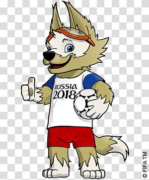 Piala Dunia FIFA 2018 Rusia Maskot resmi Piala Dunia FIFA Zabivaka, Rusia 2018, Rusia ilustrasi anjing 2018 png