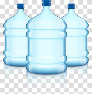 ilustrasi tiga galon air biru, Botol air botol air, ember air murni png