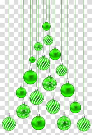pernak-pernik hijau, Hari Natal, Pohon Balls Natal PNG clipart