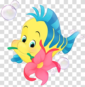 Ilustrasi The Little Mermaid Flounder, Flounder Ariel Sebastian King Triton Mermaid, putri duyung ariel png