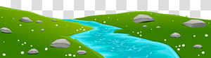 River Diagram, River Ground Cover, sungai dengan ilustrasi bebatuan png