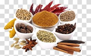 berbagai macam bumbu dalam mangkuk, Garam masala Ayam tikka masala Masakan India Masala chai Biryani, jahe png