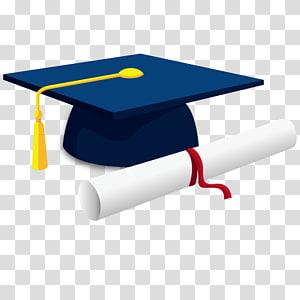topi akademik biru, upacara Wisuda Topi akademik persegi Gelar Akademik Gelar sarjana, topi kelulusan Sarjana png