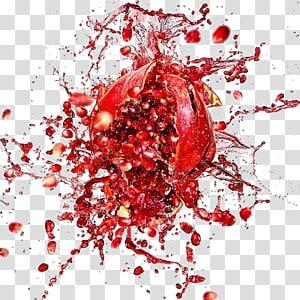 meledak buah delima, Jus Buah, percikan jus buah delima merah png