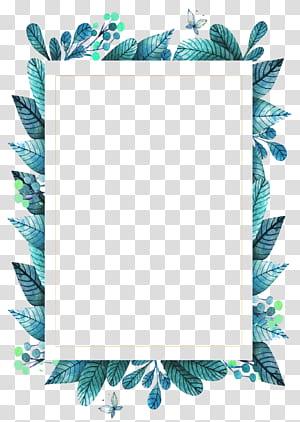 Bingkai daun Hijau, bingkai daun hijau, ilustrasi daun hijau PNG clipart