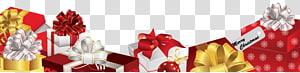 kotak hadiah, Footer Hadiah Natal png