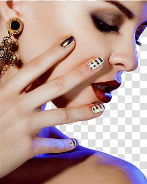 wanita memakai lipstik merah, Kuku Manicure Gel kuku Make-up, Fashion wanita cantik makeup PNG clipart