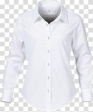 putih kancing-up kemeja lengan panjang berkerah, T-shirt Kemeja kerah Lengan, kemeja png