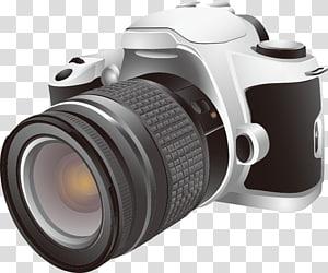 Ilustrasi kamera SLR, Kamera digital, kamera png
