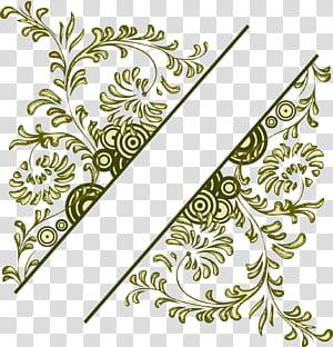 Bunga Desain bunga, Ilustrasi bingkai bunga vintage, ilustrasi daun hijau png