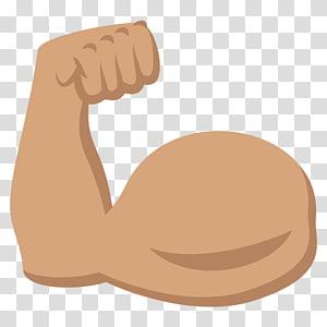 ilustrasi tangan, biceps emoji simbol lengan warna kulit manusia, otot PNG clipart