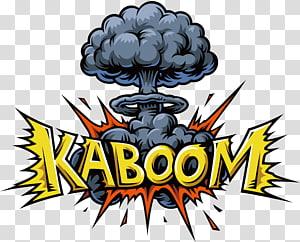 kaboom, Ilustrasi ledakan Ilustrasi balon ucapan, Awan jamur ledakan super png