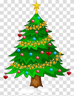 ilustrasi pohon Natal hijau, Pohon Natal Buatan, Pohon Natal PNG clipart