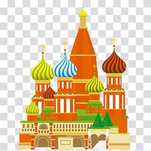 ilustrasi gereja, Lapangan Merah Kremlin Moskwa, Katedral Basilika Menara Spasskaya Tower Roma, Katedral Masjid PNG clipart