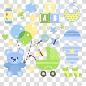 ilustrasi pakaian aneka warna bayi, Mainan Bayi Transportasi bayi, Bayi png