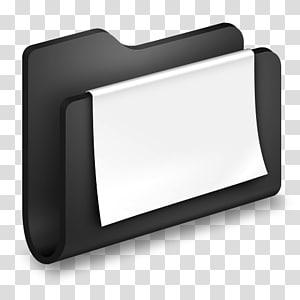 klip folder hitam dengan kertas putih, sudut perangkat keras multimedia, Dokumen Folder Hitam png