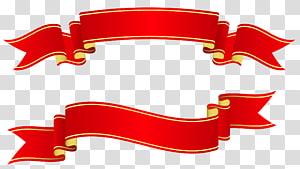 Pita Kertas Spanduk, Spanduk Merah, dua ilustrasi pita merah png