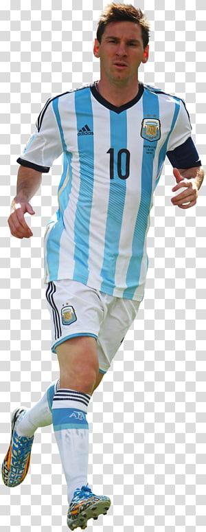 kaos sepak bola adidas putih dan putih putra, pemain sepak bola nasional Lionel Messi Argentina FC Barcelona Football player, messi png