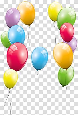 ilustrasi banyak balon warna-warni, Pesta Ulang Tahun Balon, Balon Besar png