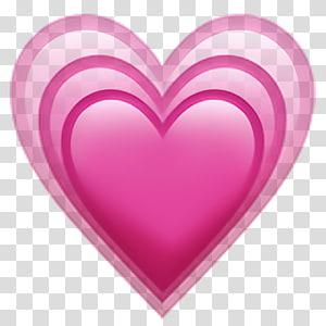tiga ilustrasi jantung, Emoji Wajah dengan Air Mata Sukacita Emoji Cinta, emoji jantung png