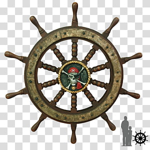 Roda kemudi Kemudi, kapal bajak laut png