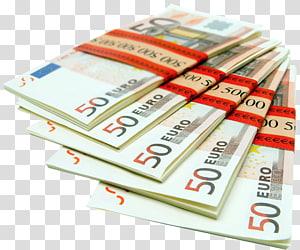 5-bundel 50 uang kertas Euro, Euro, Bundel Euro png