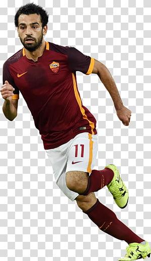 Kaos tim sepak bola Nike merah marun, hitam, dan kuning pria, Mohamed Salah El Mokawloon SC tim sepak bola nasional Mesir, Chelsea F.C.SEBAGAI.Roma, mohamed salah egypt png
