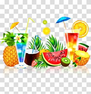 Jus Buah Semangka Nanas, jus Musim Panas, berbagai buah-buahan png