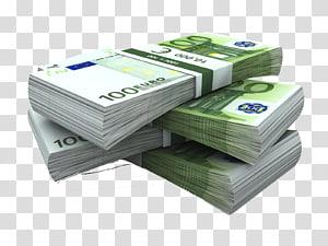 100 Euro bundel, uang kertas Euro Uang Pasar Valuta Asing, euro png