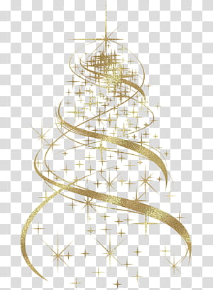 Pohon Natal Dekorasi Natal Grafik Terukur, Dekorasi Pohon Natal Emas, ilustrasi bintang kuning png