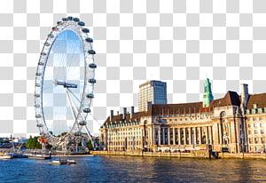 kincir raksasa di dekat badan air, London Eye River Thames Big Ben Beijing Shanghai, kincir London Eye Ferris png