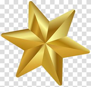 Ornamen Natal Bintang Betlehem, Bintang Natal, ilustrasi bintang emas berujung enam png