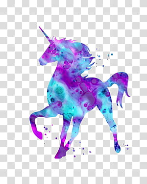 Unicorn Mythology Being, unicorn, unicorn ungu dan biru PNG clipart
