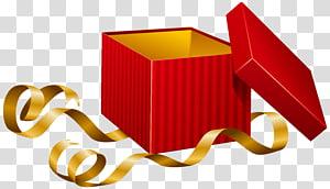 kotak merah dengan ilustrasi pita, Kotak Hadiah, Hadiah Terbuka png