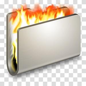ilustrasi file terbakar, persegi panjang panas berwarna oranye, Burn Folder Logam png