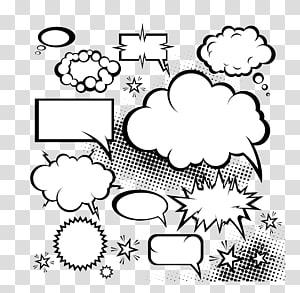 Komik Pidato balon Dialog buku komik, Komik ledakan cloud Dialog, ilustrasi kotak percakapan pesan png