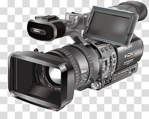 kamera video Sony HDV abu-abu, kamera Video, kamera Sony png